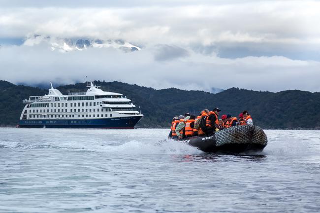 The cruise ship Stella Australis in Southern Patagonia