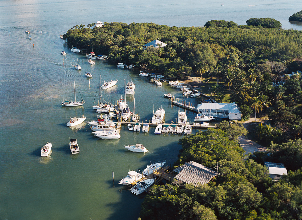 Aerial view of Cabbage Key