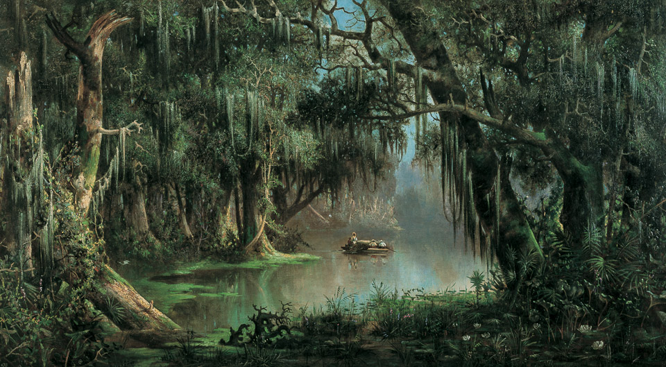 Painting: Bayou Teche by Meyer Straus