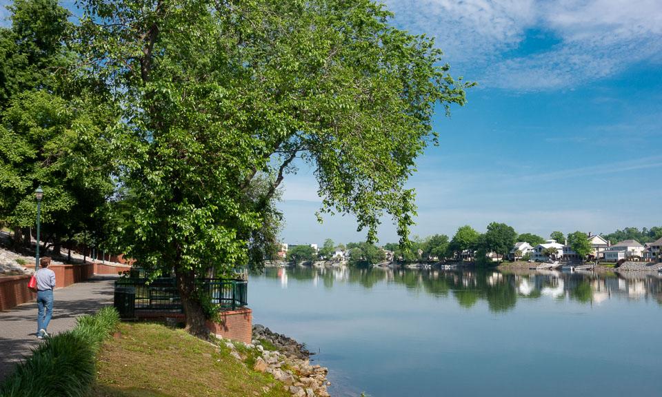 The Riverwalk, Augusta, Georgia. Copyright Mary & Charles Love