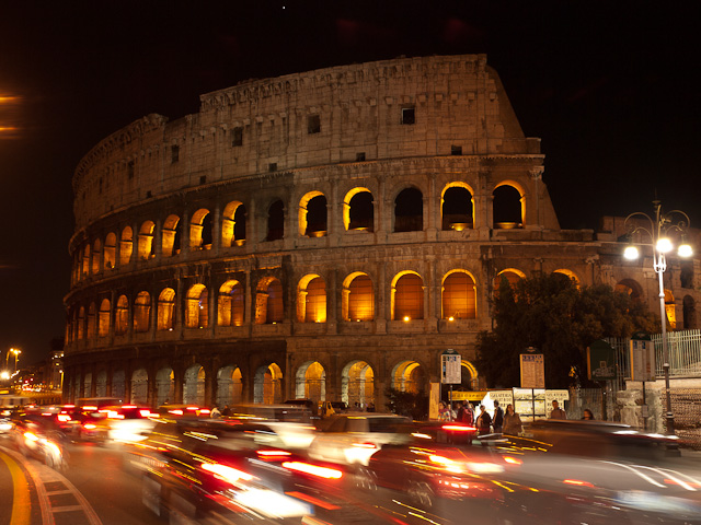 ©2010 Charles & Mary Love Rome: The coliseum at night