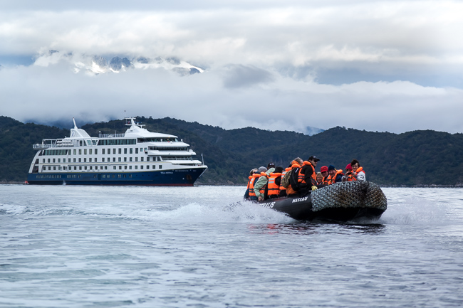 The cruise ship Stella Australis in Southern Patagonia
