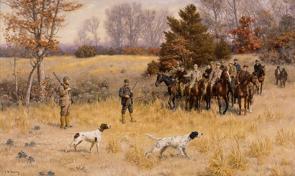 A Field Trial—On the Point, circa 1885, by John Martin Tracy. Courtesy Morris Museum