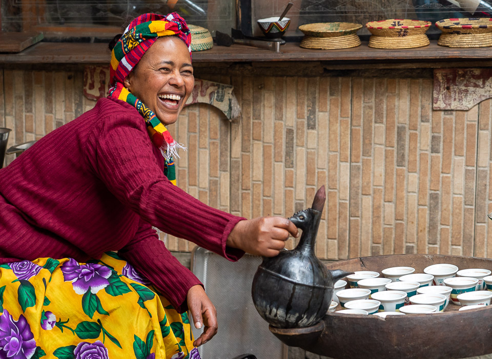 Coffee server in Addis Ababa © Charles & Mary Love