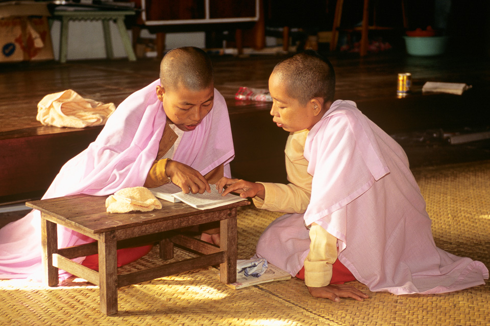 Portrait of child monks in Bangkok. Thailand © 2001 Charles & Mary Love