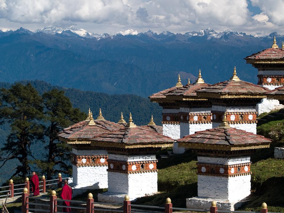 Stupas in the Kingdom of Bhutan. © 2003 Charles & Mary Love
