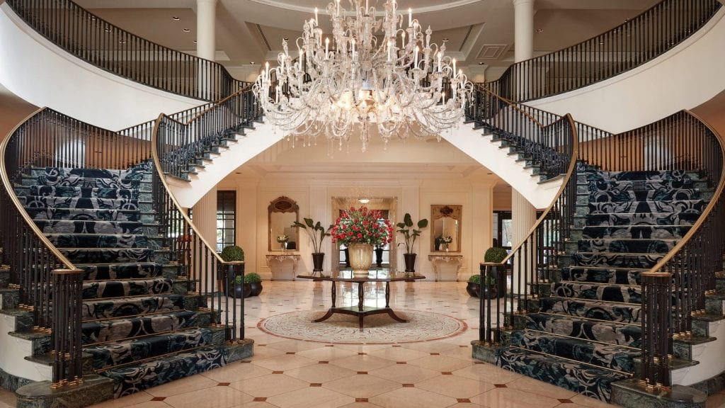 The lobby at the Belmond Charleston Place, courtesy The Belmond
