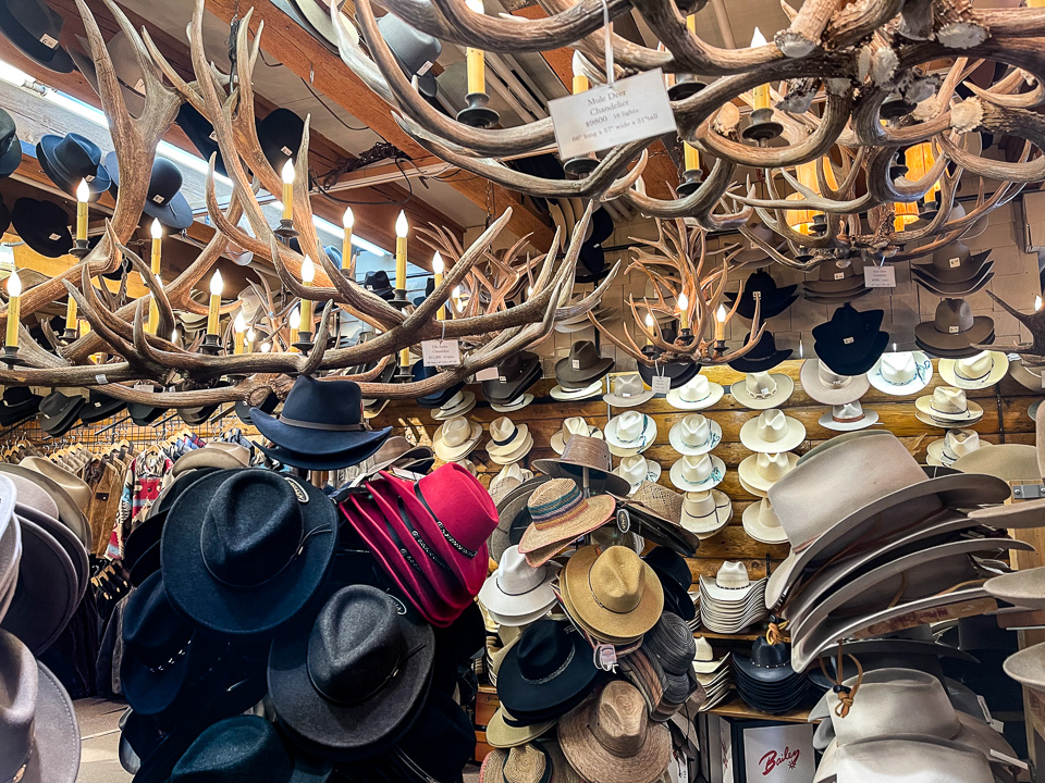Beaver Creek Hats and Leather. Jackson, Wyoming. © 2021 Charles & Mary Love