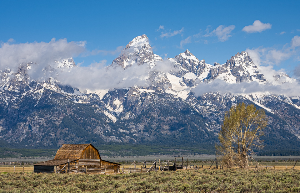Moulton Barns, a popular stop in Grand Teton National Park. © 2021 Charles & Mary Love