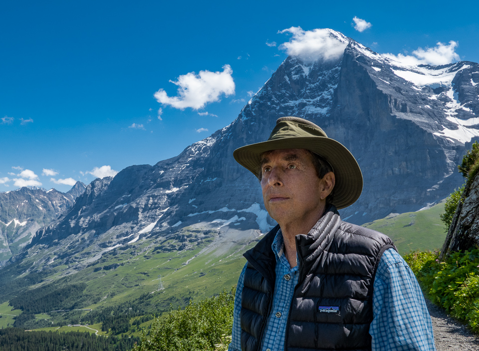 Charles with the Eiger © 2021 Mary Love