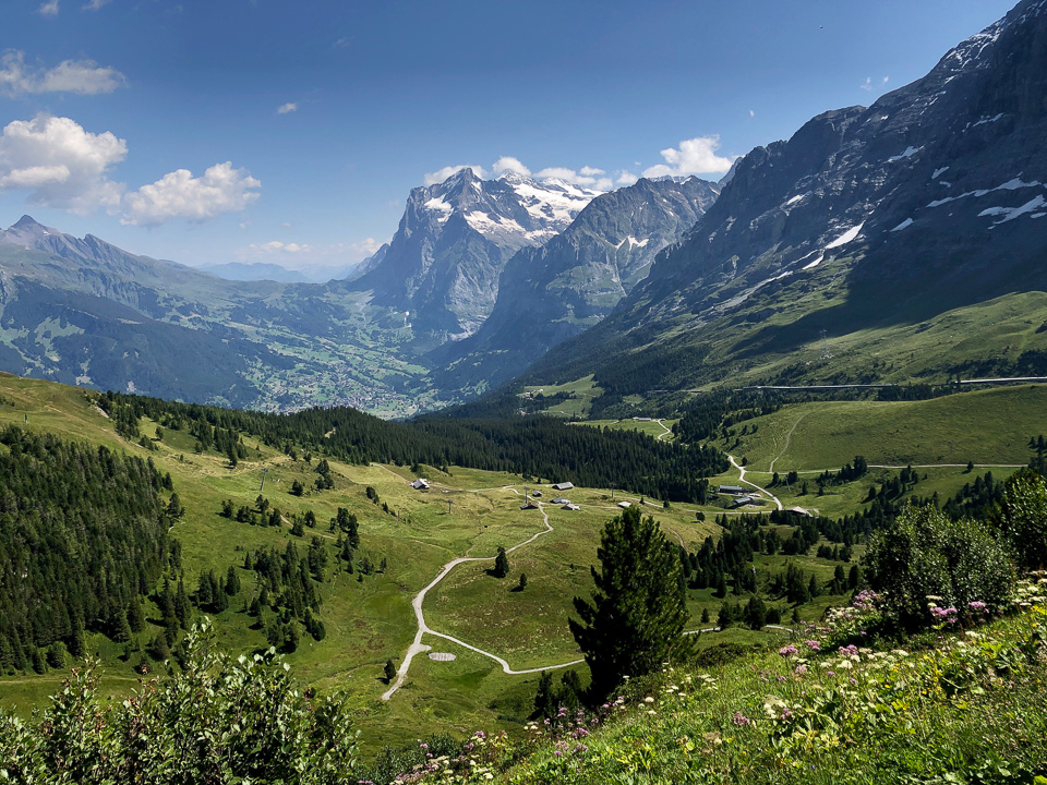 View from Kleine Scheidegg, the Bernese Oberland. © 2021 Charles and Mary Love