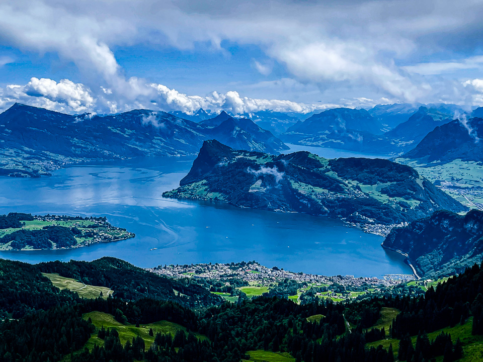 Lake Lucerne from Mt. Pilatus © 2021 Charles and Mary Love