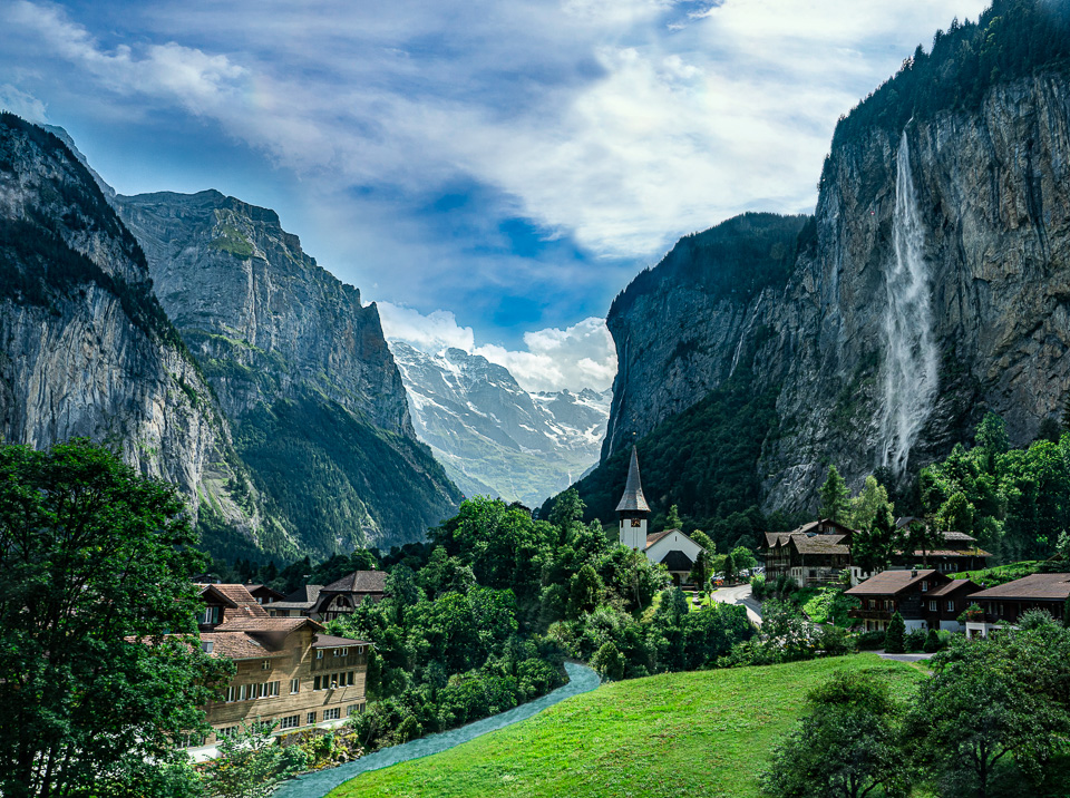 View of the Lauterbrunnen Valley